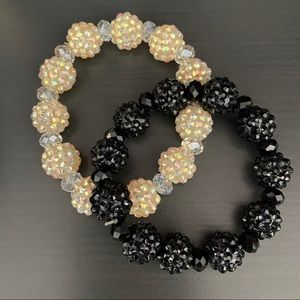 2 rhinestone bead bracelets